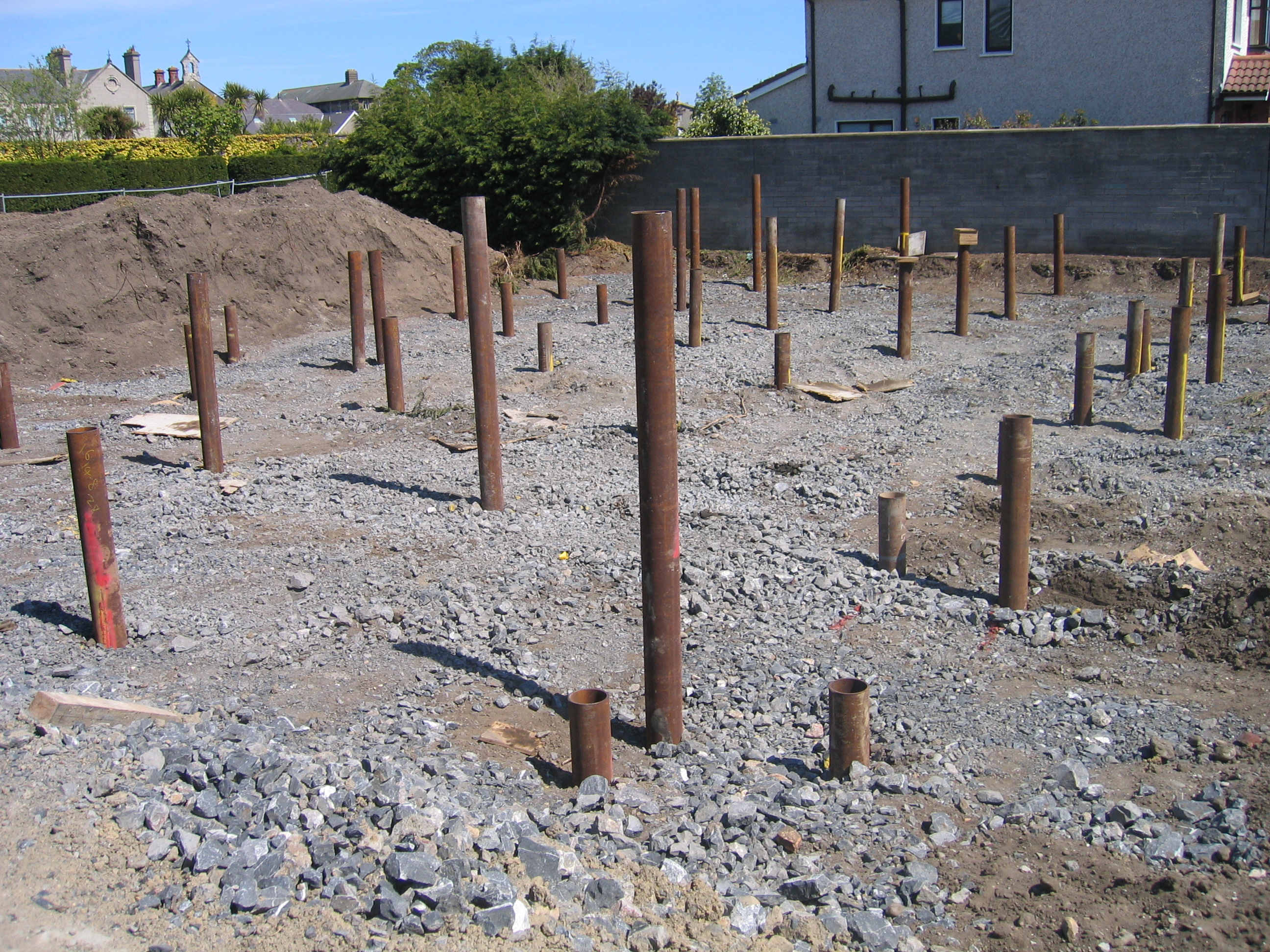Steel driven piles solutions taranto for Foundation pilings